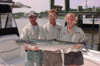 Happy fishermen will be bringing king mackerel like this nice fish to the scales in pursuit of their share of the $100,000 purse.