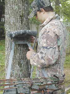 Deer hunters should practice setting up and getting into tree stands at waist level before attempting to place one 20 feet off the ground.