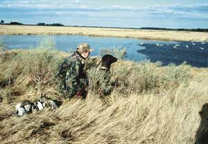 If a hunter shoots from a natural blind, he should practice firing from his knees. Standing up quickly from this position is almost certain to result in an off-balance shot.