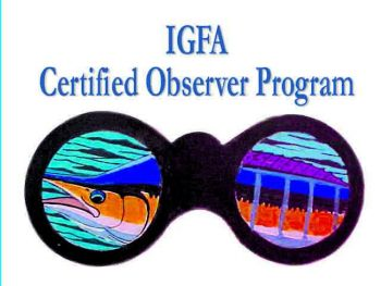 A training class for the IGFA Certified Observer Program will be held in Charleston, S.C. on March 31.