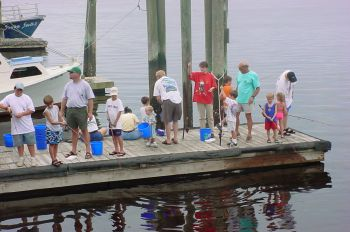 Children to age 15 can fish for free at one of more than 40 statewide WRC sponsored fishing events from June 1-10 and might win a lifetime saltwater/freshwater fishing license.
