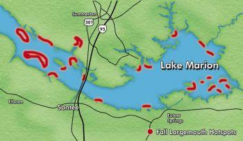 lake marion fishing map Prime Time Carolina Sportsman lake marion fishing map