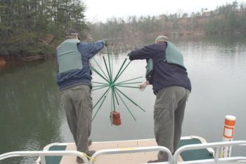 Nearly 400 porcupine fish attractor units are being placed in several western N.C. lakes.