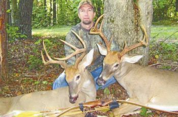 David Hendrix of Summerfield is the archery pro at Gander Mountain in Greensboro and shot these two bucks about 30 minutes apart during the second week of 2007 bow season in Rockingham County.