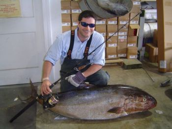Mike Krantz caught this 126.5-pound amberjack on March 31