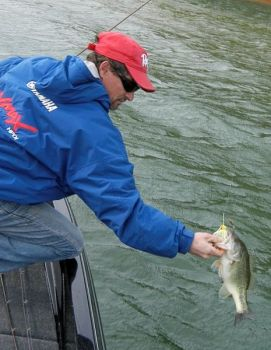 Joel Richardson loves fishing Lake Gaston during April because of the many topwater lures that bass will strike.