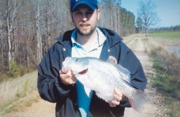 Ronnie Emory's 3-1/2-pound white crappie is the new state record.