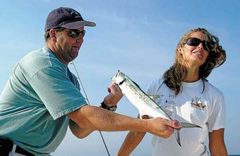 Spanish mackerel will hit No. 0 and No. 1 trolled Clark Spoons and provide plenty of fun for anglers.