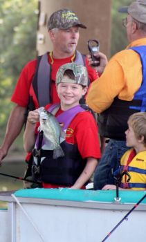 Young anglers enjoyed their first day of crappie fishing at Falls Lake during a Piedmont Pan Fishers-sponsored Youth Day.