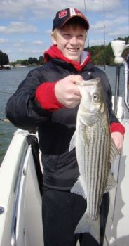 Striped bass can be winter treats for anglers who fish in creeks near Lake Norman�s two hot-water discharge plants.