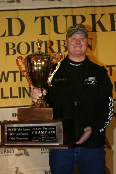 North Carolina's Mitchell Johnston emerged from a field of 48 callers to be crowned Senior Division Champion at the 2010 Wild Turkey Bourbon/NWTF Grand National Turkey Calling Championships.
