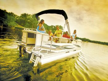 Minn Kota's E-Drive is available in a bolt-on version that mounts and steers just like a gas outboard.