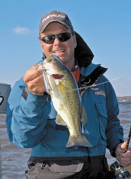 One of Davy Hite's favorite topwater baits is a Zara Spook, which can be worked with a fast or slow retrieve depending on whether bass are spawning, in postspawn or chasing blueback herring.<br />