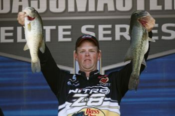 Jami Fralick displays his Lake Murray bass