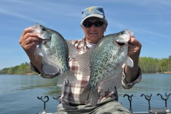 Most of the crappie in Kerr Reservoir in March will be found on deep structure.