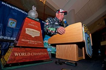 Bassmaster Elite Series pro Chris Lane put together more than 51 pounds to win the 2012 Bassmaster Classic championship on Louisiana's Red River on Sunday.