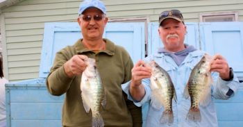 Darrell Peacock and Denny Potts, both of Mocksville, won the Feb. 18 Carolina Crappie Assoc. tournament at High Rock Lake.