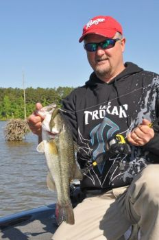 Guide Jeff Thomas said Jordan Lake and other Triangle-area impoundments are on the cusp of the largemouth bass spawn.