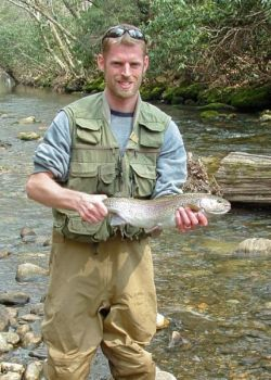 Large rainbow trout are possible at hatchery-supported waters such as the Davidson River.