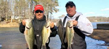 Chris Brown and Robert Voyles of Lexington finished second and took big-fish honors in the Feb. 25 High Rock Team Tournament.