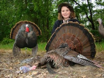 Emma Stone, 10, killed this 23-1/2-pound gobbler on April 23. It was her second of the season.