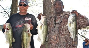 Tony Waterhouse (left) and Orlando Giles won the March 25 CATT event at High Rock Lake.
