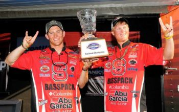 Ben Dziwulski and Ethan Cox of N.C. State's Basspack won the BoatUS Collegiate Bass fishing Championship May 24-25 on Alabama's Lake Pickwick.