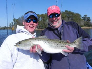 Big speckled trout are offering lots of action for anglers in the lower Neuse River.