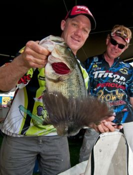 Kansas pro Brent Chapman jumped to the lead of the Toledo Bend Bassmaster Elite Series event after two days of fishing.