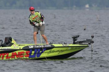 Brent Chapman had a tougher day on the water today, but maintained his grip on the Bassmaster Elite Series lead on Louisiana's Toledo Bend.