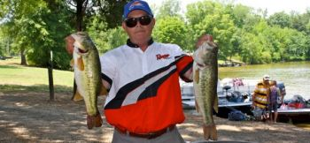 Ray Griffin won the BFL Piedmont Division Tournament on High Rock Lake in early June with a catch of almost 20 pounds.