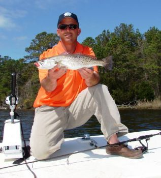 A mullet run in the New River has caused a great topwater bite for speckled trout and redfish, according to Capt. Ricky Kellum.
