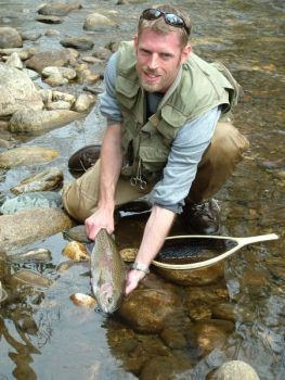 Delayed-harvest trout streams in the northwestern corner of the state offer action for trout anglers.