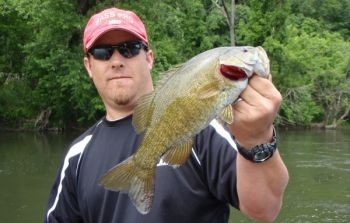 Nice smallmouth bass inhabit the Tuckaseegee River along much of its length.