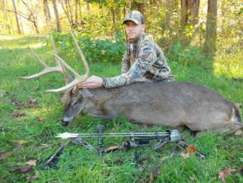 Steve Patterson's 8-point Orange County buck carried a rack with better than 140 inches of horn.
