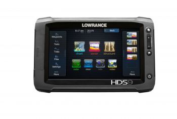 Touchscreen Lowrance electronics are smaller and easier to use than the old models that featured keyboards or buttons.