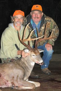Kaylin Duncan (left) killed this 155-inch 10-point buck in Caswell County on Oct. 29.