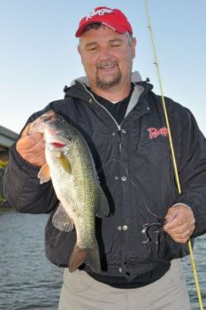 Jordan Lake has recovered from its October funk and now is producing largemouth bass for anglers such as Jeff Thomas.