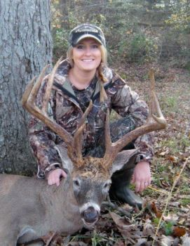 Mindy Huffines killed this 12-point Rockingham County buck she had nicknamed �Heartbreaker� because of a miss during archery season three years ago.