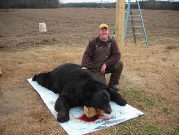 Brandon �Big Red� Barnes put the killing shot into the skull of this 780-pound Washington County bear � believed to be the second-heaviest ever killed in North Carolina