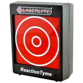 The LaserLyte target system allows shooters to practice indoors without firing real ammo.