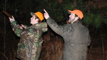 Ryan and Rusty Williams hunt squirrels with 20-gauge and .410 shotguns, but it's legal to use rifles, handguns and archery equipment to harvest a daily limit of 10 squirrels, and they can be hunted with dogs.