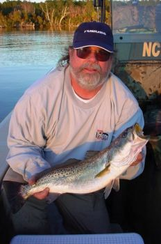 Nice speckled trout have been biting in deep holes in the backs of creeks off the Neuse and Trent rivers around New Bern.