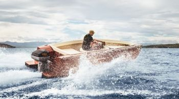Torqeedo�s 80-horsepower electric outboard has plenty of torque to plane out boats
