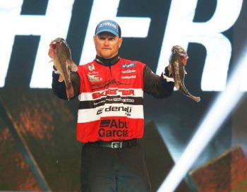 North Carolina's Hanck Cherry goes into the second day of the 2013 Bassmaster Classic sitting in third place, just 9 ounces behind leaders Michael Iaconelli and Cliff Pace.