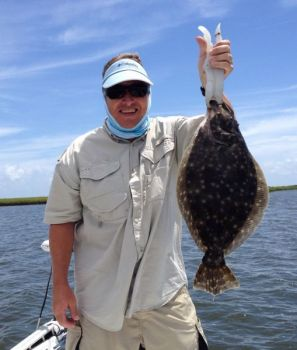 Flounder appear to bite better on bright, sunny days when the water is extremely clear, if you know how to make a good presentation with a bright-colored lure.