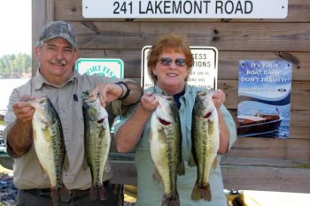 Neil and Patrick McDonald of Thomasville won the Adam & Eve Trail's April 13 tournament on Badin Lake with this 16-3 limit.