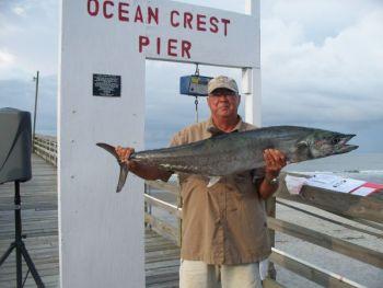 Monty Robinson's 27-pound king mackerel won the Oak Island Open Pier Tournament last weekend.