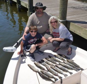 The waters around Manteo are full of speckled trout, and the action has been hot and heavy this past week.