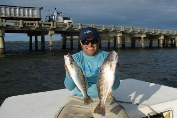 Trout puppy drum biting up a storm in harkers island for Harkers island fishing report